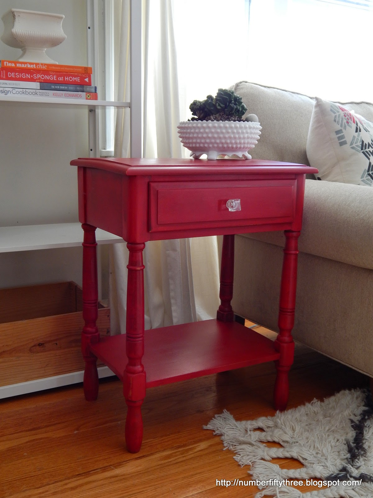 Bold Red End Table