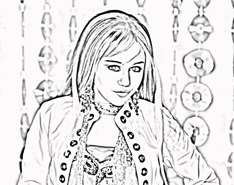 Hannah Montana Halloween Coloring Pages