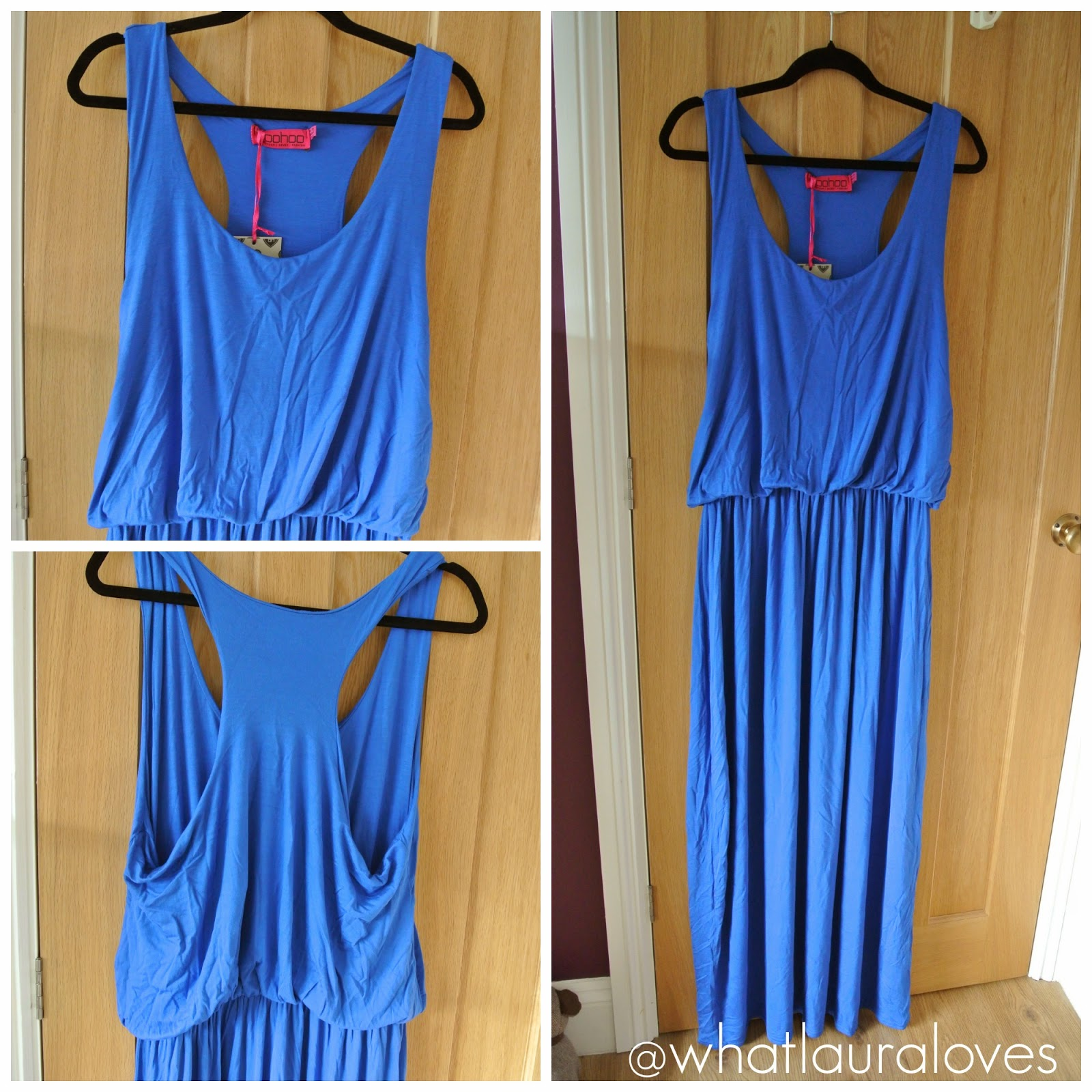 Cobalt Racer Back Maxi Dress from BoohooPLUS