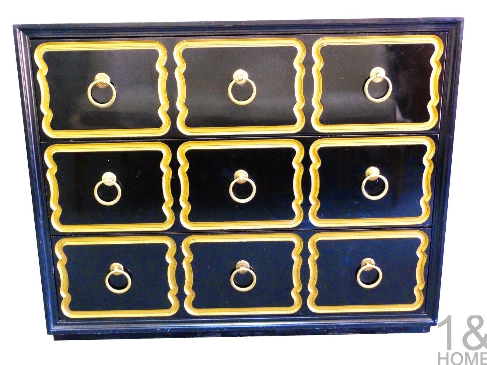 antique dorothy draper espana heritage henredon black dresser chest