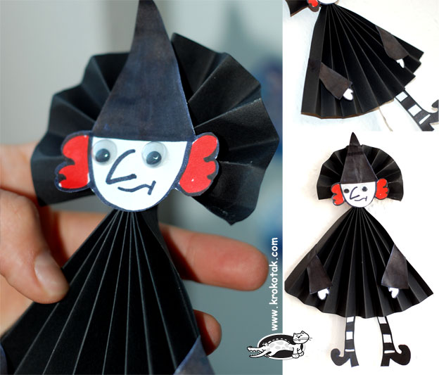 Поделка для хэллоуина из бумаги