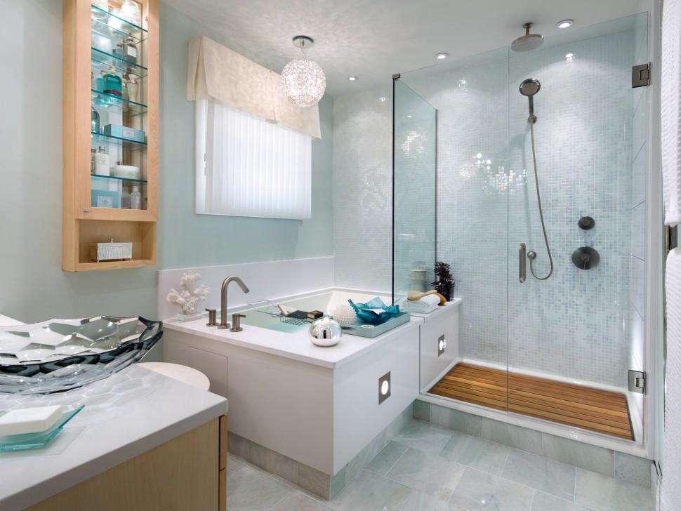 bagno con trattamento alle finestre leggero immagine