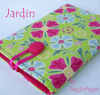 'Jardin' handmade padded ereader / tablet case sleeve cover in pink green blue floral fabric for Kindle, Nexus 7, ipad Mini, Galaxy Tab, Kobo Touch, Blackberry Plabook.