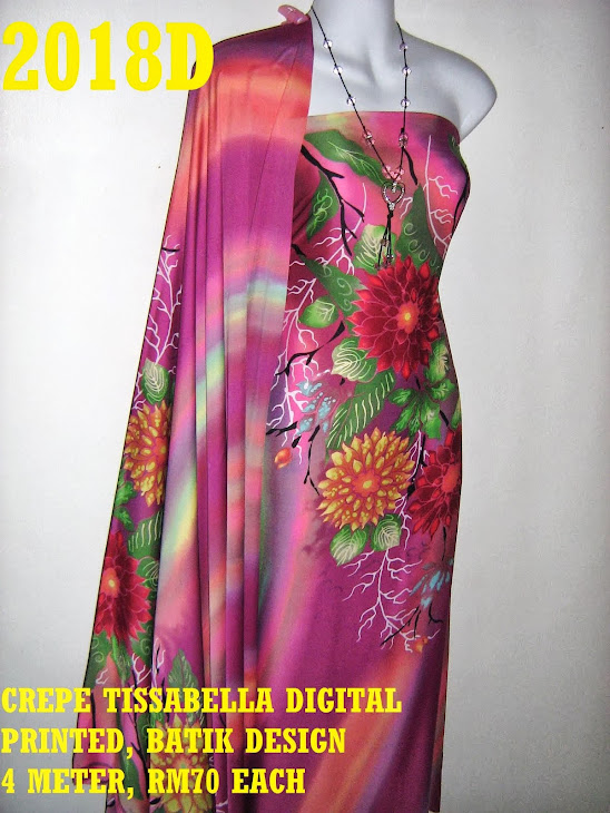 CTD 2018D: BATIK CREPE TISSABELLA DIGITAL PRINTED, EXCLUSIVE DESIGN, 4 METER