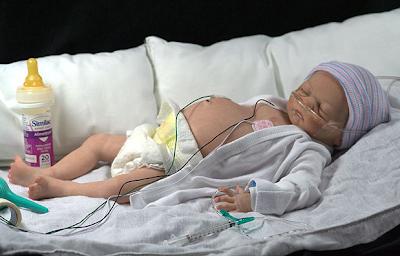 patung bayi pra matang