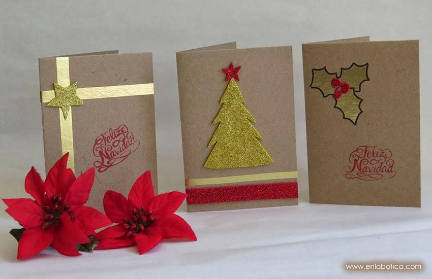 En la botica diy tarjetas de navidad - Tarjetas de navidad artesanales ...