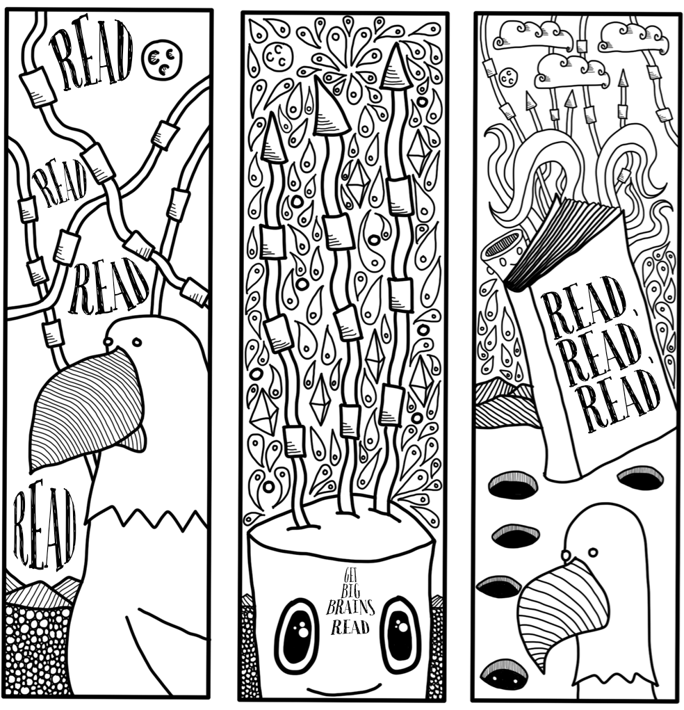 Draw Eric!: 3 Bookmarks to print and color... just for you.