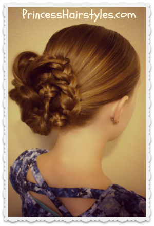 Pretty Messy Bun - Bunches Of Braids Updo Tutorial