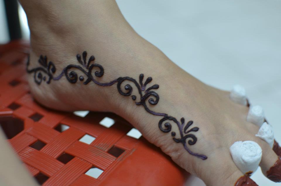 Henna Kaki Yg Simple Makedes Com