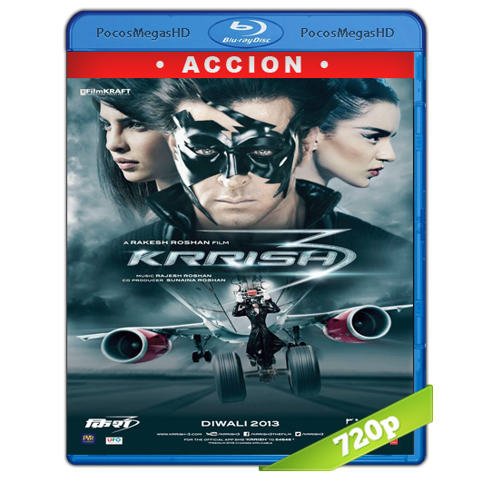 Krrish 3(2013)  BrRip 720p Hindi AC3+subs