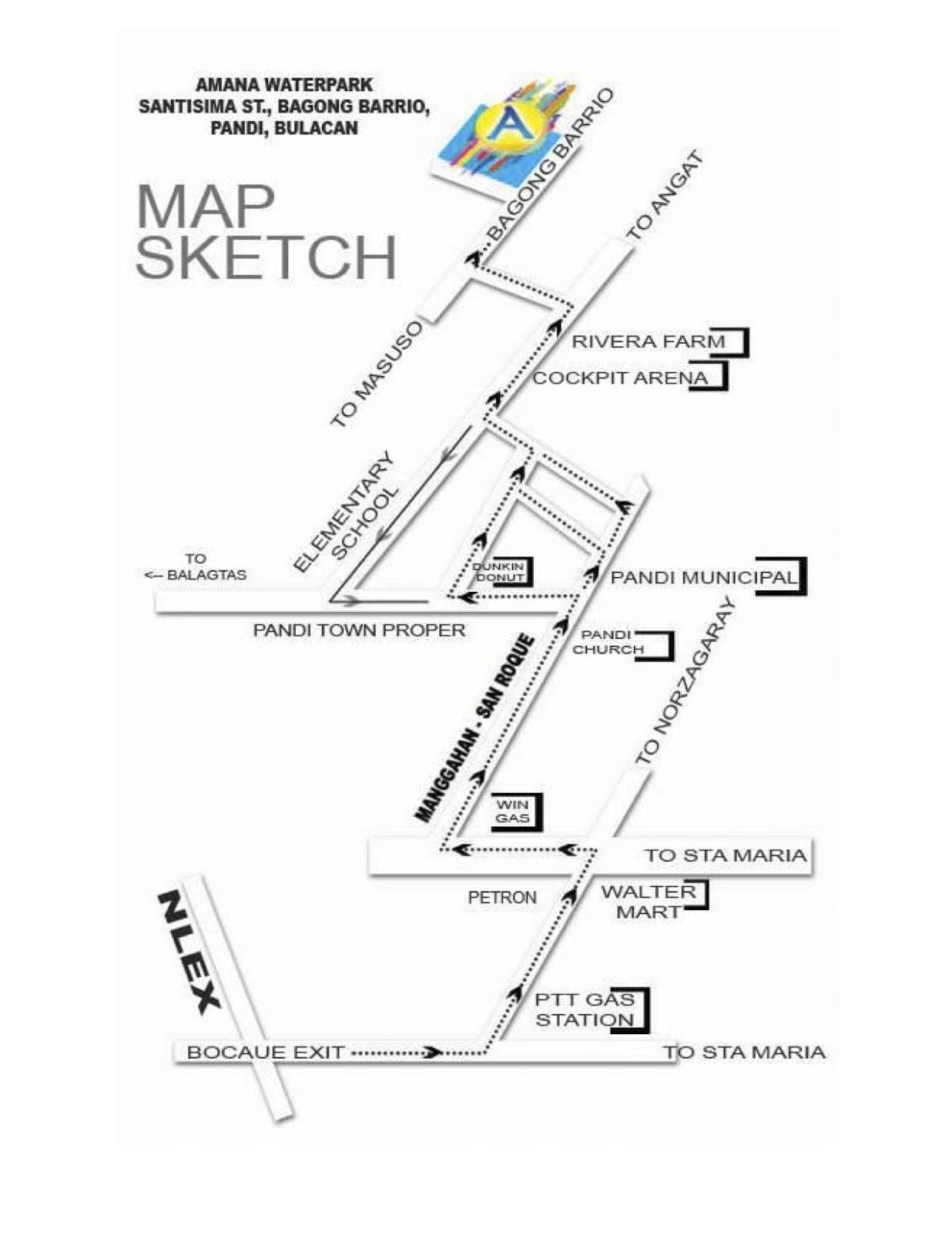 Bulacan Resorts Philippines November - Bocaue map
