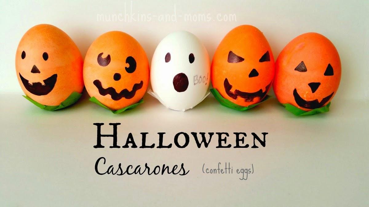 How to make Halloween Cascarones (confetti eggs)!