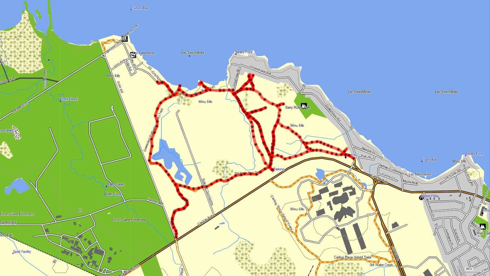 Richard's GPS Trail Maps: Trail 10 Trail System