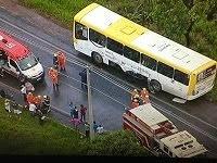 Grave acidente com ônibus da Pioneira
