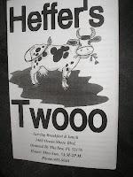 Heffer's Twooo memu