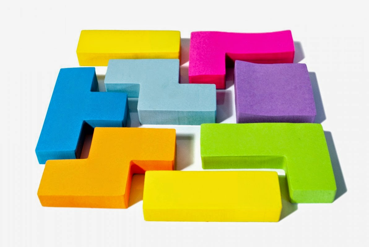 karteczki memo sticky notes tetris
