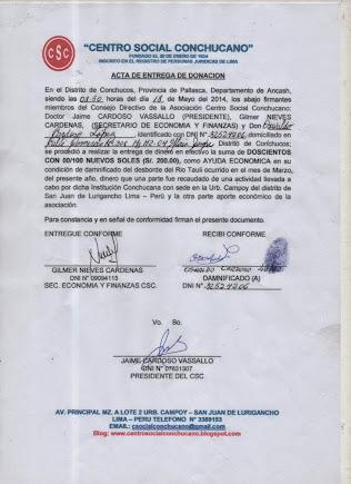 ACTA ENTREGA A OSWALDO CARDOSO LOPEZ