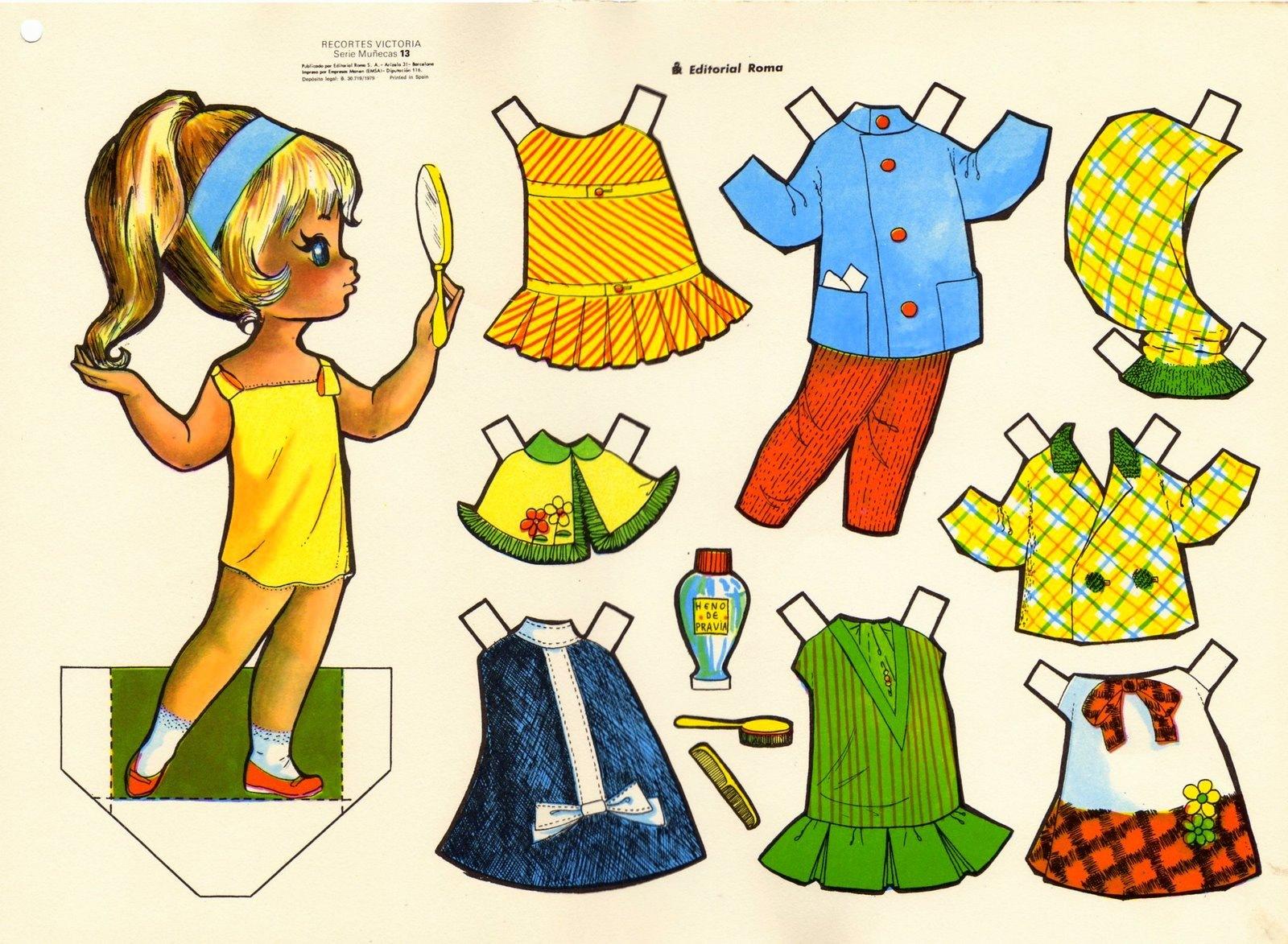 jugar a vestir munecos: