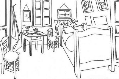 Mi peque o universo magico dibujos para colorear de van gogh for Cuarto para colorear