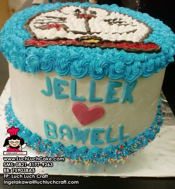 kue tart ulang tahun lucu untuk pacar