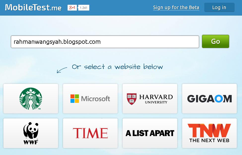 Cara melihat tampilan website versi mobile