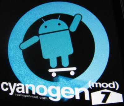 T-Mobile HTC G2 Rooted Android - Cyanogen Mod 7 Logo
