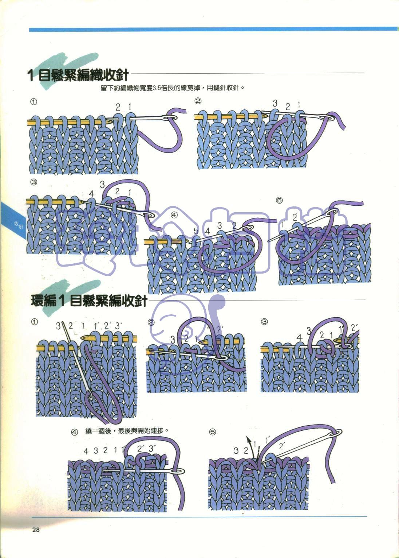 Как завершить вязание двойной резинкой
