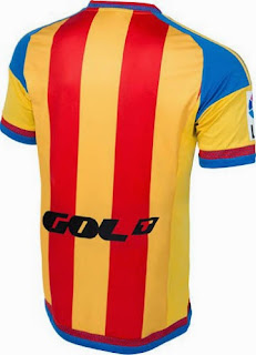 jual jersey bola Bagian belakang Jersey valencia away terbaru musim 2015/2016