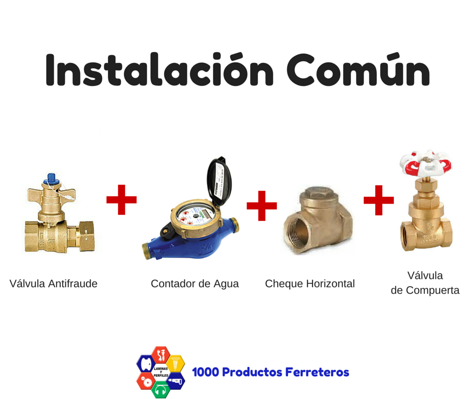 1000 productos ferreteros como instalar el contador de - Contador de agua ...