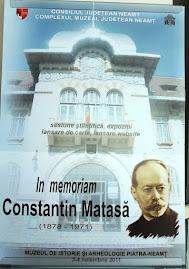 Afişul Oficial al Sesiunii de Comunicări a Muzeului de Istorie şi Arheologie din Piatra Neamţ