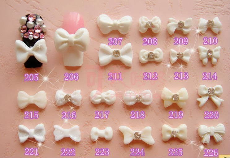 Fashionable nail art ideas good 3d nails bows for 3d nail decoration