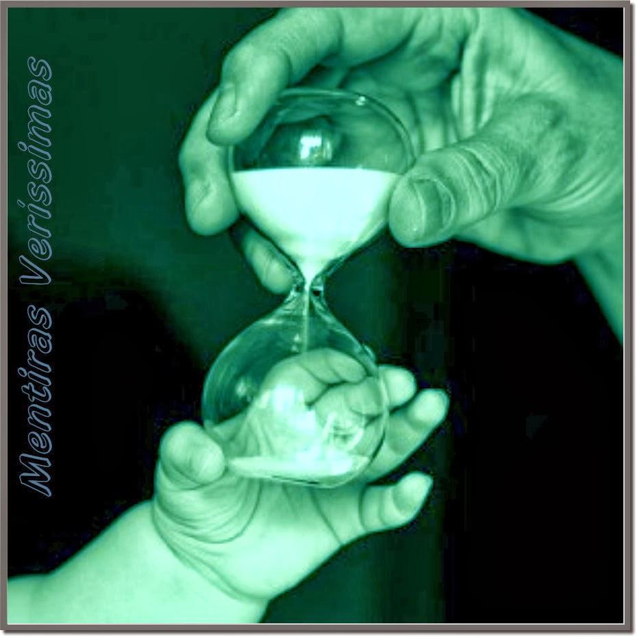 A ampulheta da vida medindo o tempo do nascimento à morte.