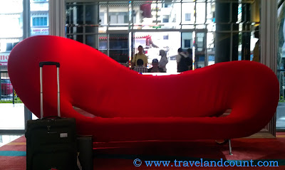 Ibis Hotel Red Couch