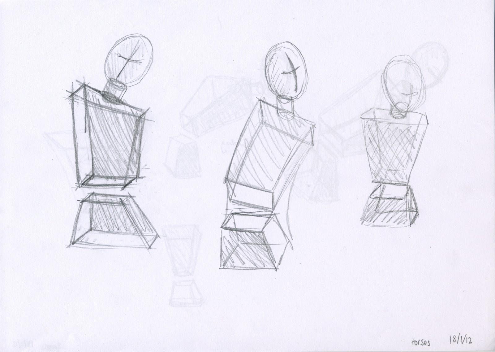 Geometric Life Drawing Geometric Drawing 2 Views of