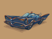 NOPAL Art: 1966 Batmobile sketch study