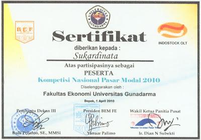 contoh desain sertifikat kampus universitas gunadarma contoh desain ...