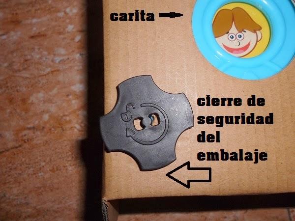 cierre seguridad del embalaje
