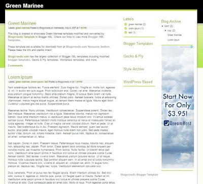 Gree Marine Template Google Adsense Premium Free