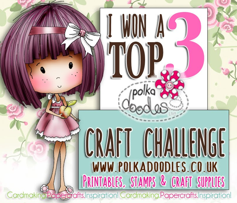 Top 3 Winner at Polkadoodles Craft Challenge