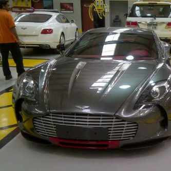 aston martin one-77 q-series police car dubai