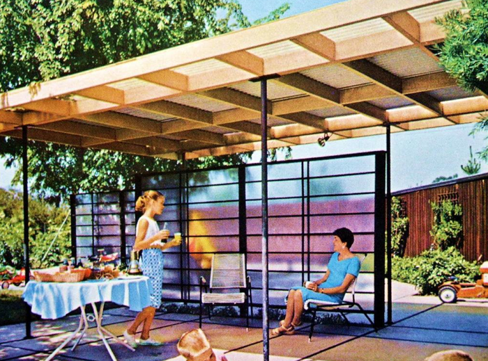 An Open Air Patio Cover.