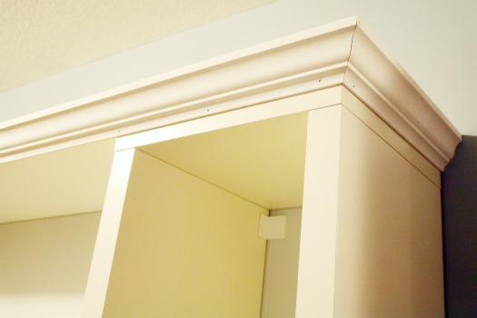 Add Crown Molding to Bookcase IKEA