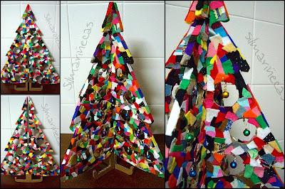 diy- árbol de navidad reciclado