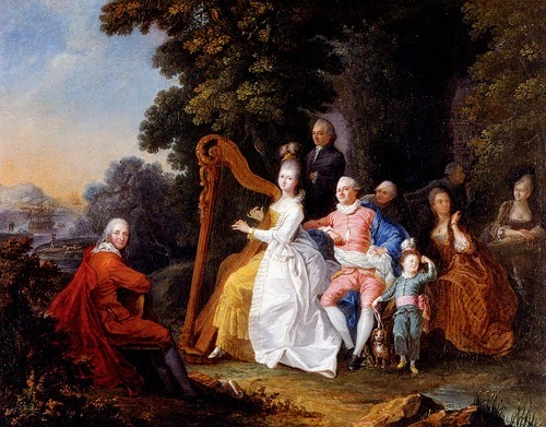 An Elegant Party In The Countryside by Pierre-Michel Lovinfosse (1771)