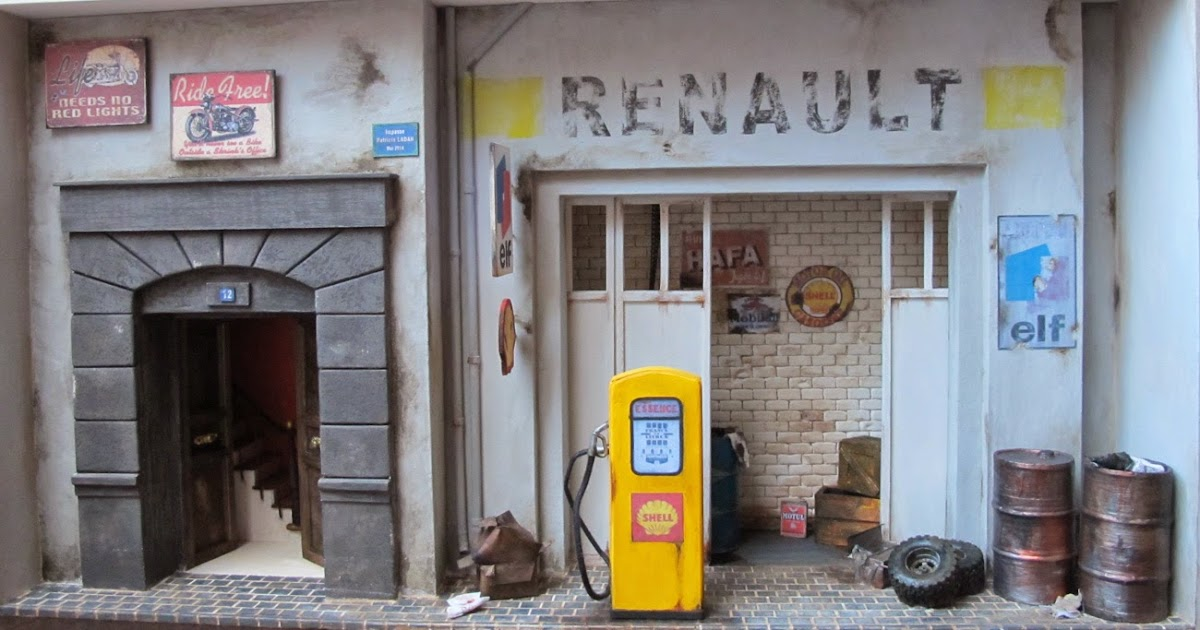Miniatures ladan le garage renault for Garage renault villeneuve la guyard
