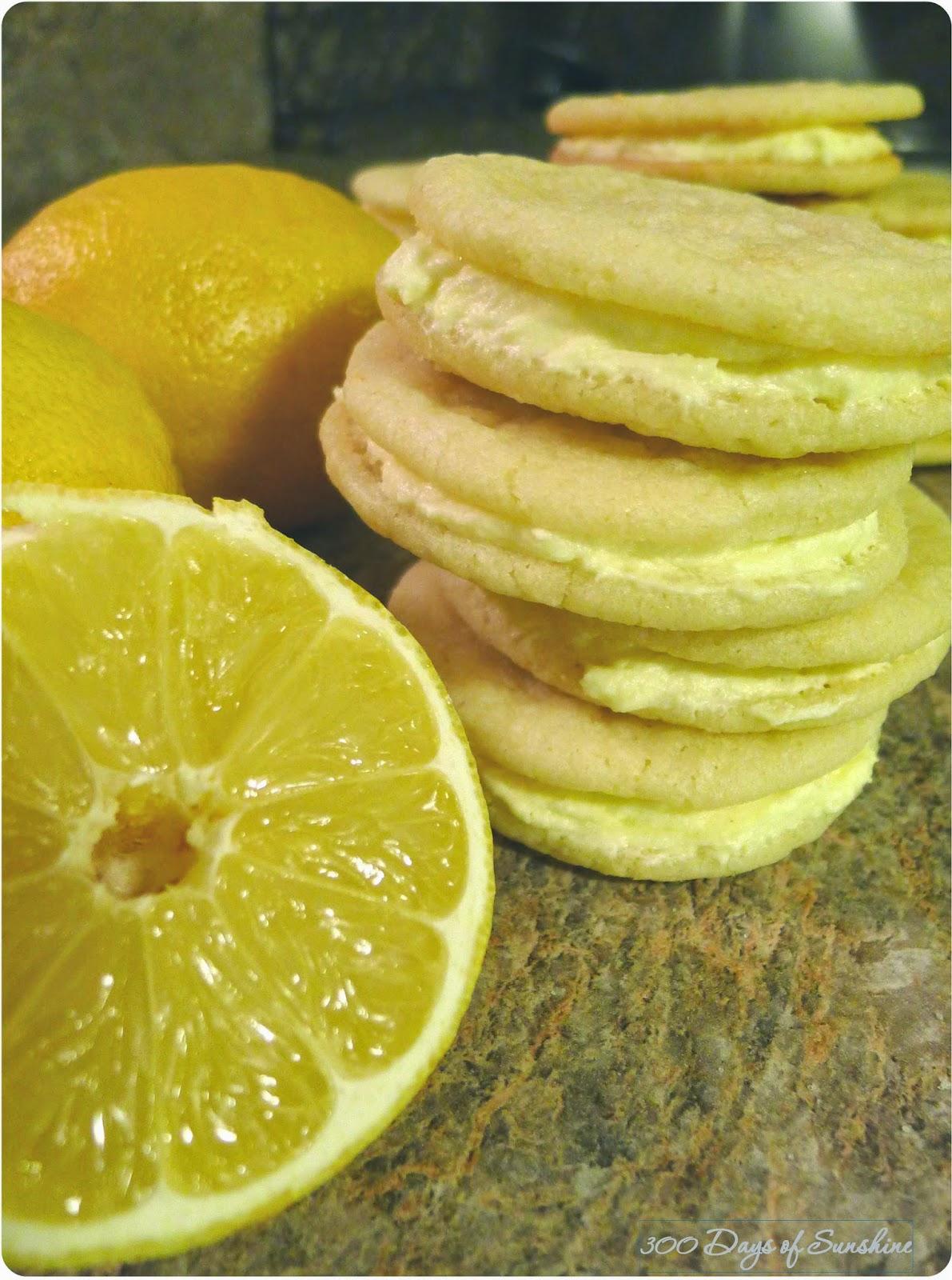 300 Days of Sunshine: Lemon Sandwich Cookies
