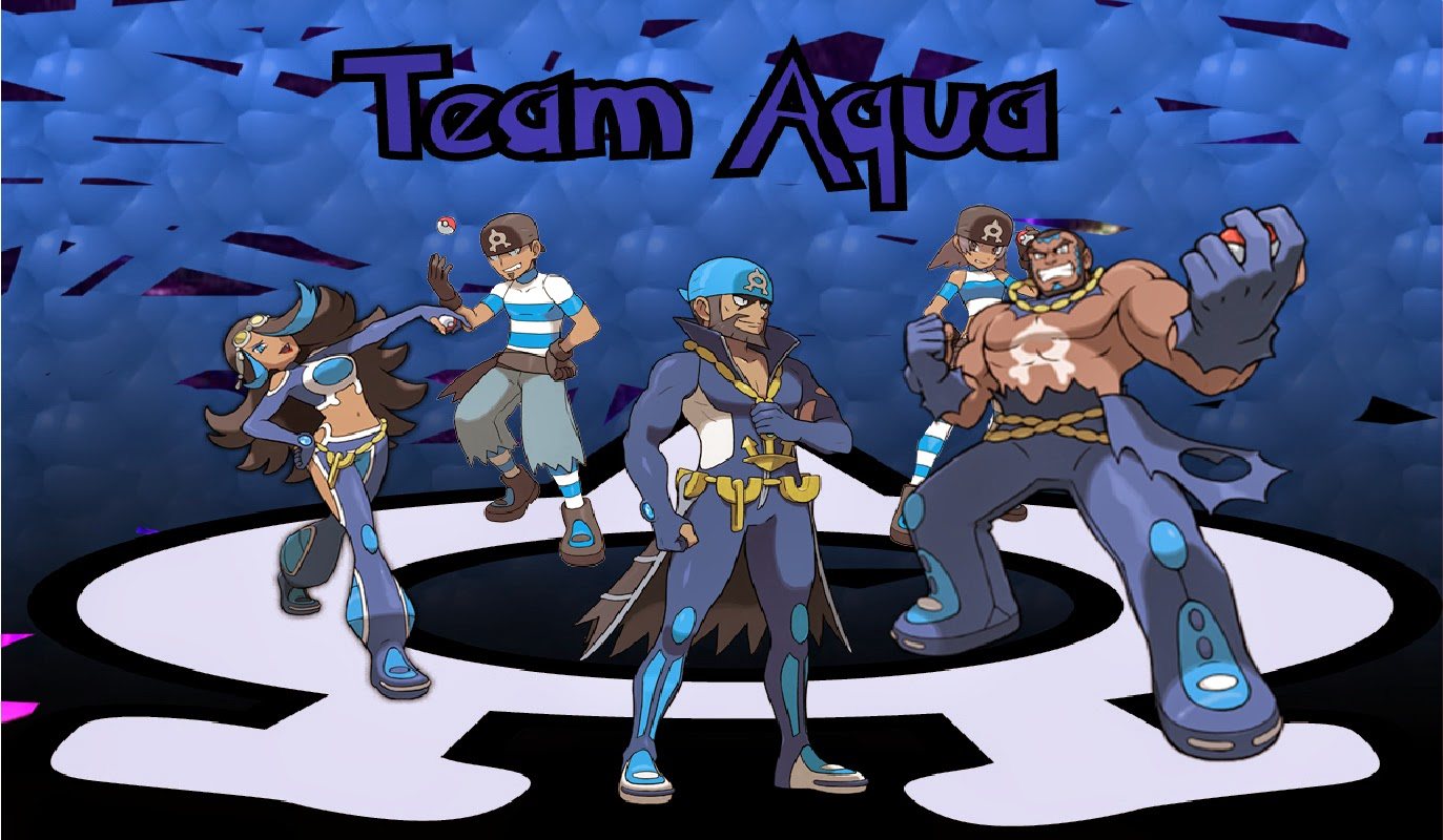 Wallpapers  Team Aqua  Team Magma e Mega SwampertTeam Aqua Wallpaper