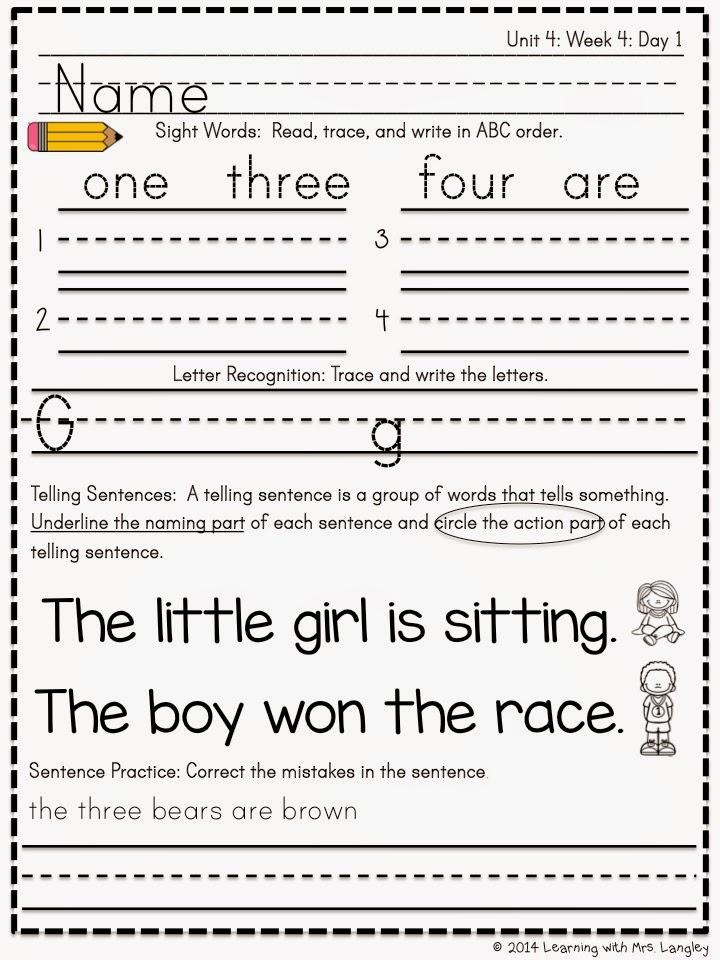 https://www.teacherspayteachers.com/Product/Kindergarten-Morning-Word-Work-Unit-4-1499278