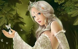 Wallpaper Perempuan Fantasi