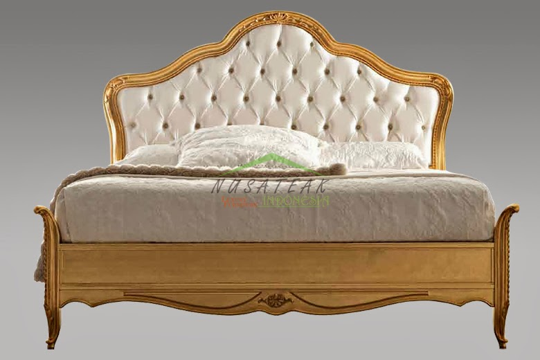 Armonie Gold Leaf Bed from Mahogany